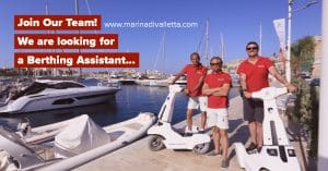 Join Our Team | Berthing Assistant Required - Marina Di Valletta